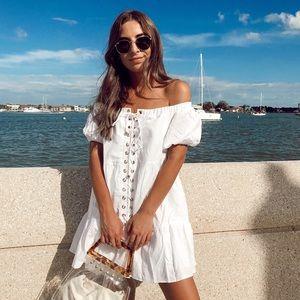 Sabo Skirt White Andra Linen Dress